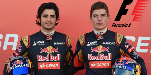 Max Verstappen and Carlos Sainz Junior