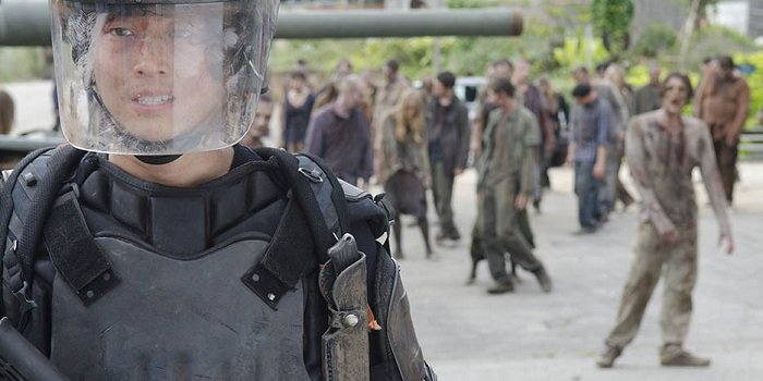 Walking Dead Glenn in the prison riot gear