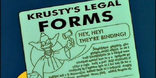 Kusty crazy contract Simpsons