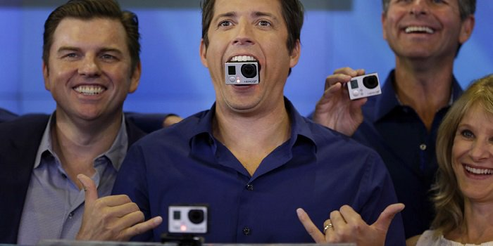 Nick Woodman with web camera in mouth