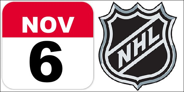 Quick Betting Odds for 6 November NHL Matches