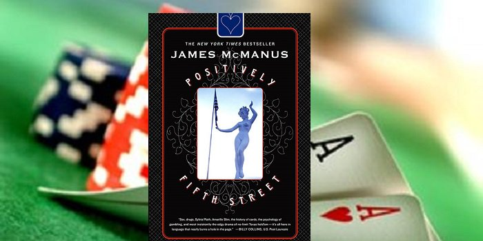 James McManus Positively Fifth street cover poker table