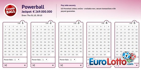 269 million euros EuroLotto Powerball Jackpot!