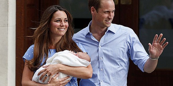 First picture of Princess Charlotte, William, Kate
