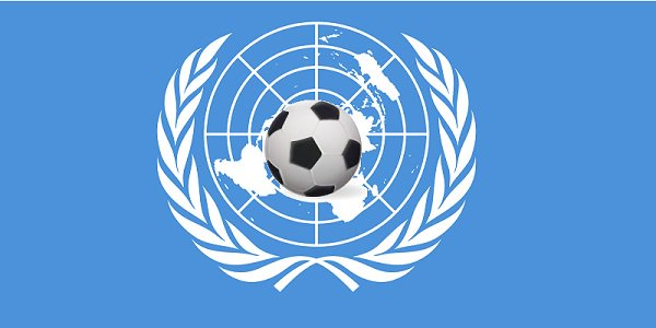 UN flag United Nations Football Soccer