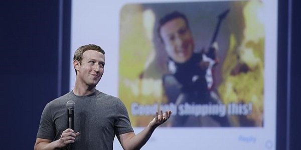 Mark Zuckerberg presenting FB Meseenger Business
