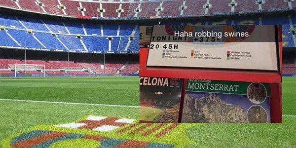 Barca-Man City ticket price