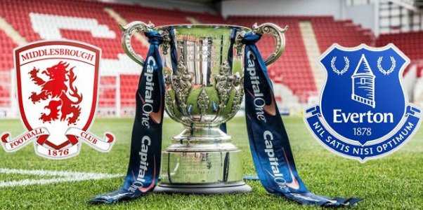 Middlesbrough v Everton Odds & Capital One Cup Betting Lines