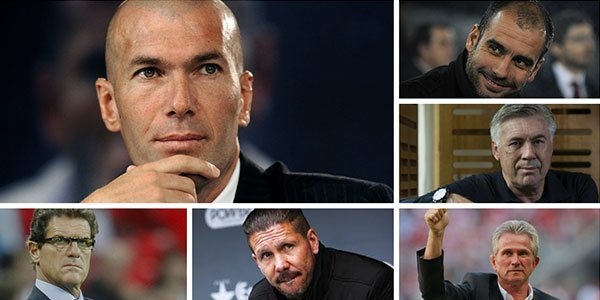 Zinedine Zidane and other famous players turned managers