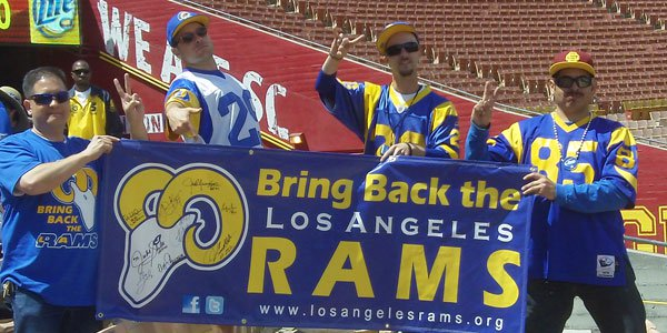 Rams Move Back to Los Angeles for the 2016 NFL season