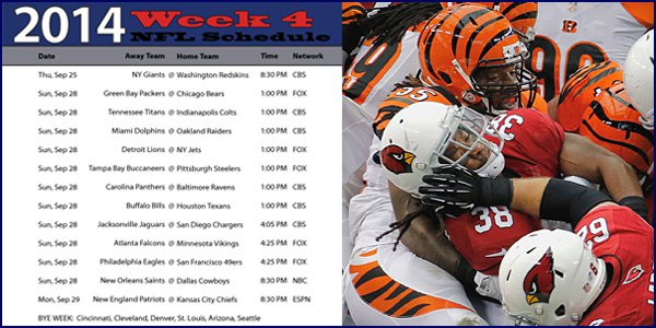 Betting Odds and Predictions for NFL's Week 4 of Action