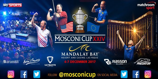 Bet on the 2017 Mosconi Cup online