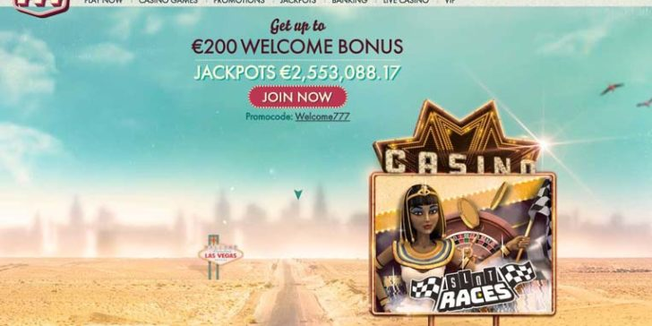 The lateset review about 777casino is to be found at GamingZion's online casino directory