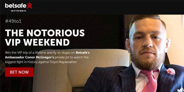 Fly on Conor McGregor's Private Jet by Betting on the Fight with Betsafe Sportsbook!