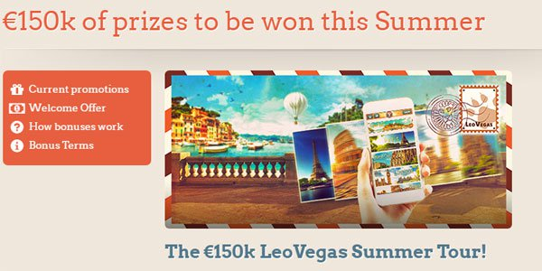 LeoVegas casino giveaway