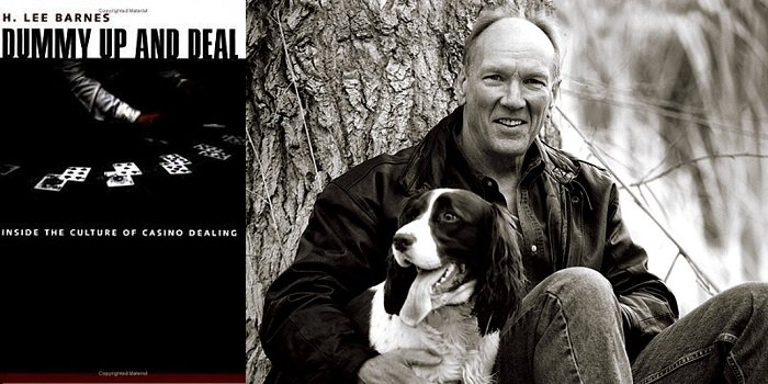 H Lee Barnes DUmmy Up and Deal author with dog