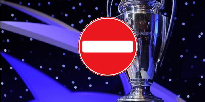 UEFA Champions League cup, No entry