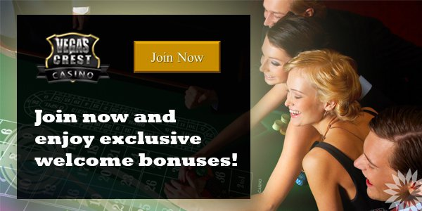 Vegas Crest Casino exclusive promo