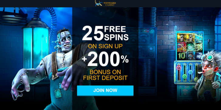 Win a total of €6,750 with this Winward Casino Welcome Bonus!