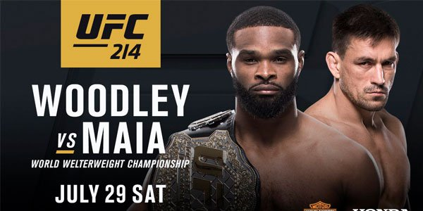 Bet on Woodley vs. Maia online