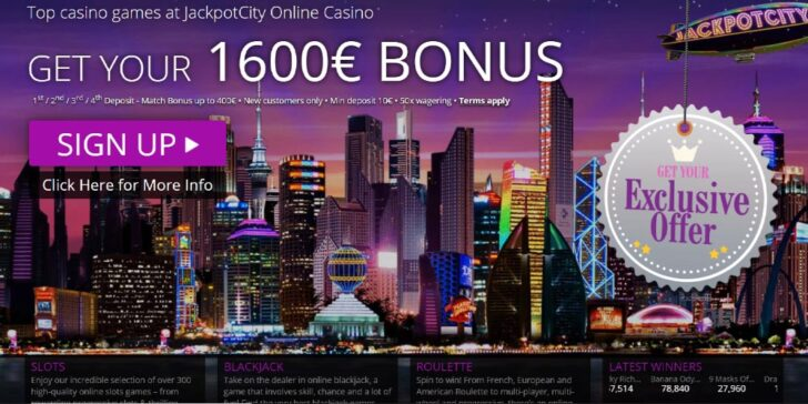 The latest review about Jackpot City Casino Welcome Bonus - win $1,600 on 4 match deposit bonuses with GamingZion