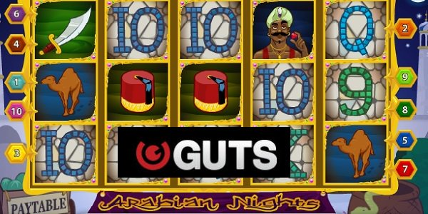 GUTS Casino, Arabian nights, slots, jackpot