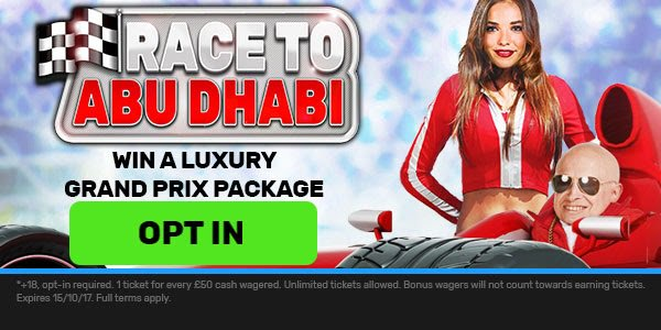 Join bgo Casino and Win a Trip to Grand Prix Race in Abu Dhabi