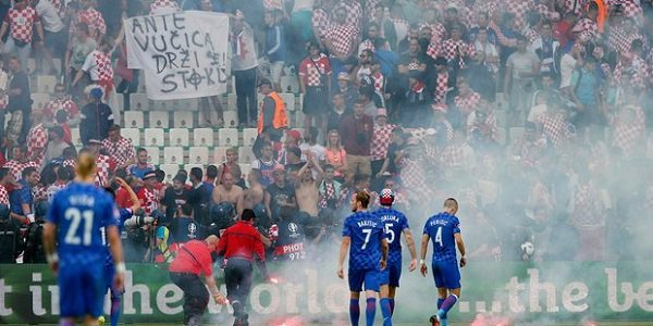 Croatia Fans Czech Republic Football Disgrace