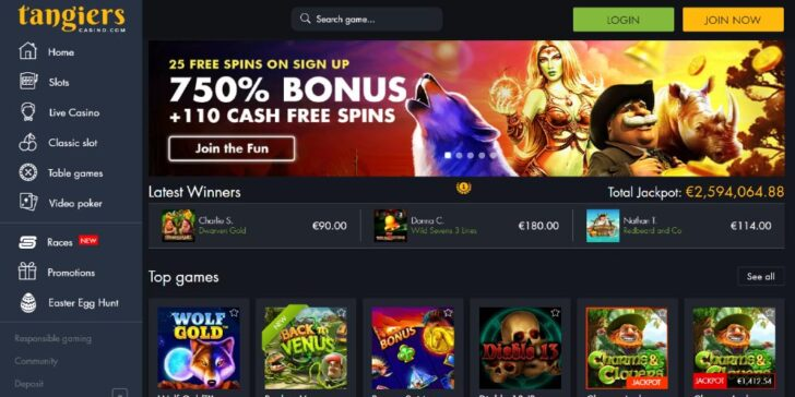 Tangiers Casino Welcome Bonus, GamingZion's latest review about Tangiers Casino