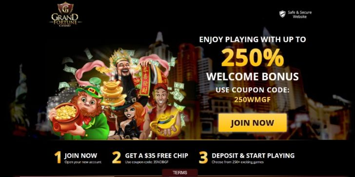 Win Extra Money Free Chip With Grand Fortune Casino Welcome
