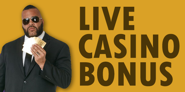 separate live casino welcome bonus