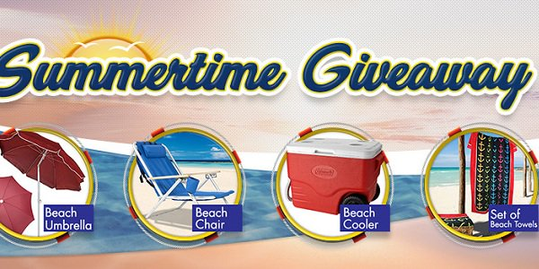 CyberBingo's Summertime Giveaway Promotion Lets You Win Beach Gadgets for Free