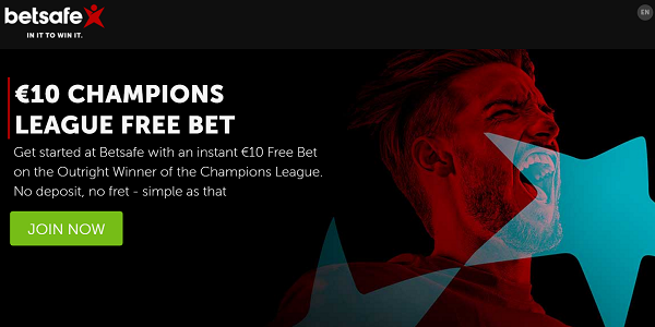 Champions League Winner Free Bet