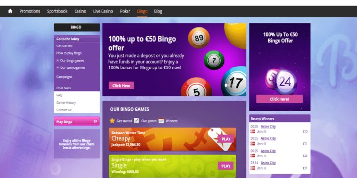 The latest review about Betsson Bingo, written by GamingZion