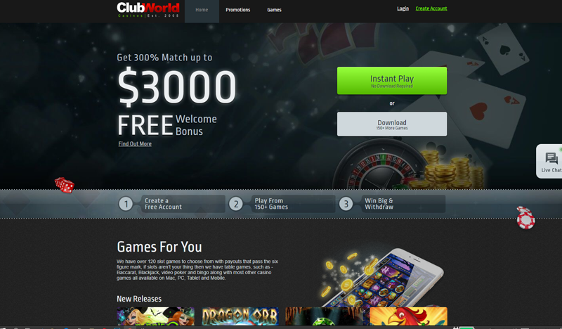 Review about Club World Casino - GamingZion | GamingZion