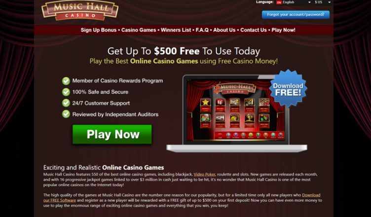 review about music hall casino
