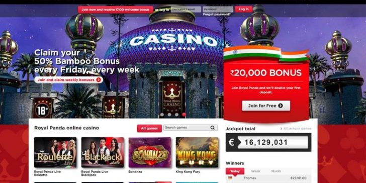 about royal panda casino india