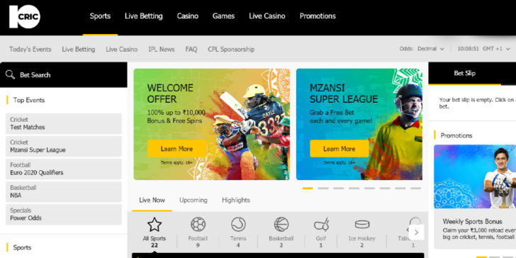 Latest Review about 10CRIC Sportsbook Welcome Bonus Online Sportsbooks in India Indian Betting Site Online Gambling Sites India Online Gambling Bonuses GamingZion GamingZion.com Online Sportsbook Sites India