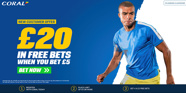 Coral Sportsbook Welcome Offer