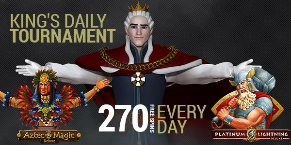Daily Free Spins Tournament King Billy Casino