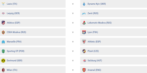 Europa League Round of 16 Matches