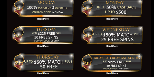 Grand Fortune Casino Daily Promotions