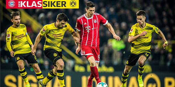 Bet on Bundesliga Round 28 – Bayern v Dortmund Betting Odds