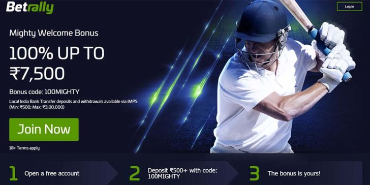betrallyindia sportsbook welcome bonus