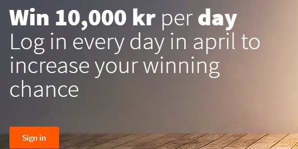 Daily April Promo Betsson casino