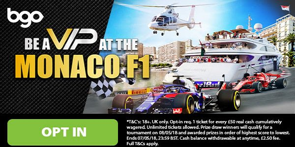 bgo Casino Monaco GP Tickets 2018