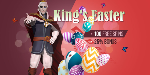 easter eggs slot free spins at King Billy Casino