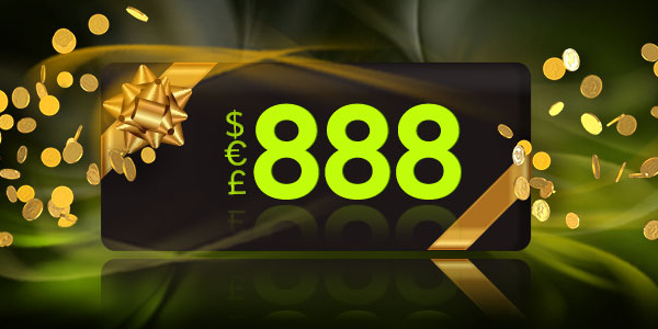 Win €100 on the Monthly 888casino Raffle
