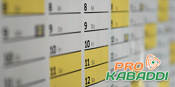 Indian Pro Kabaddi Betting Schedule For 2018 Released