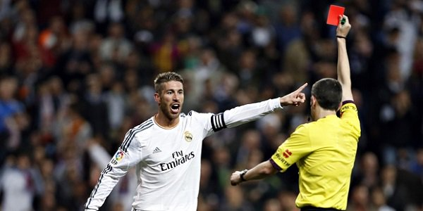 Sergio Ramos Red Card Record